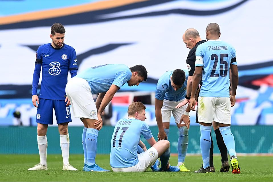 De Bruyne could return for CityThe FA via Getty Images