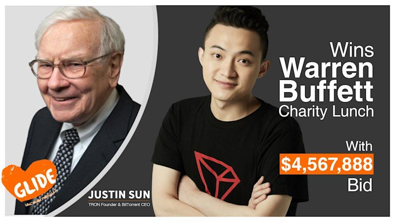 Crypto pioneer & owner of BitTorrent pays $4.57 million for lunch with Buffett