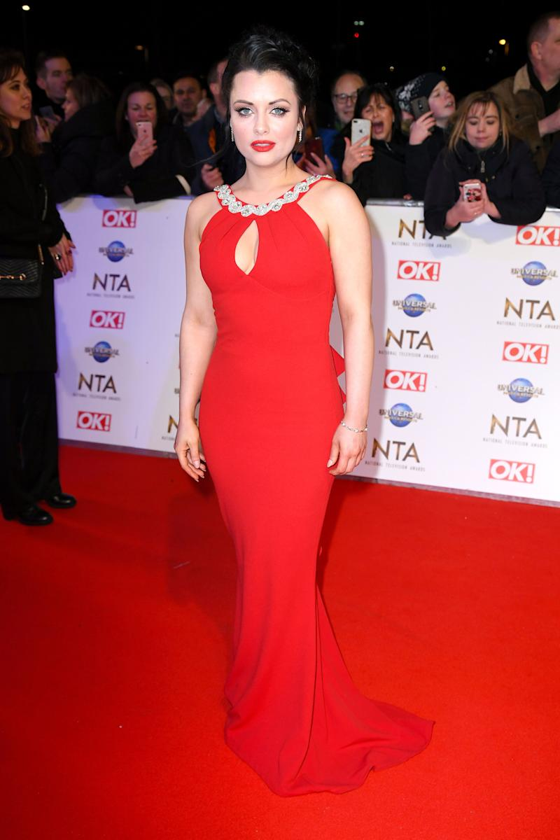 Shona McGarty attending the National Television Awards 2020 held at the O2 Arena, London. Photo credit should read: Doug Peters/EMPICS