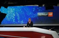 One Taliban official has sat down for an interview with a woman host on Tolo News (AFP/WAKIL KOHSAR)