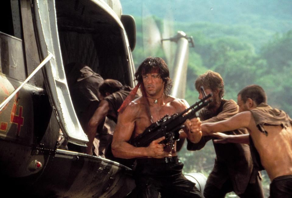 Rambo goes on a mission to save missing POWs in <em>Rambo: First Blood Part II</em>. (Photo: Courtesy Everett Collection)