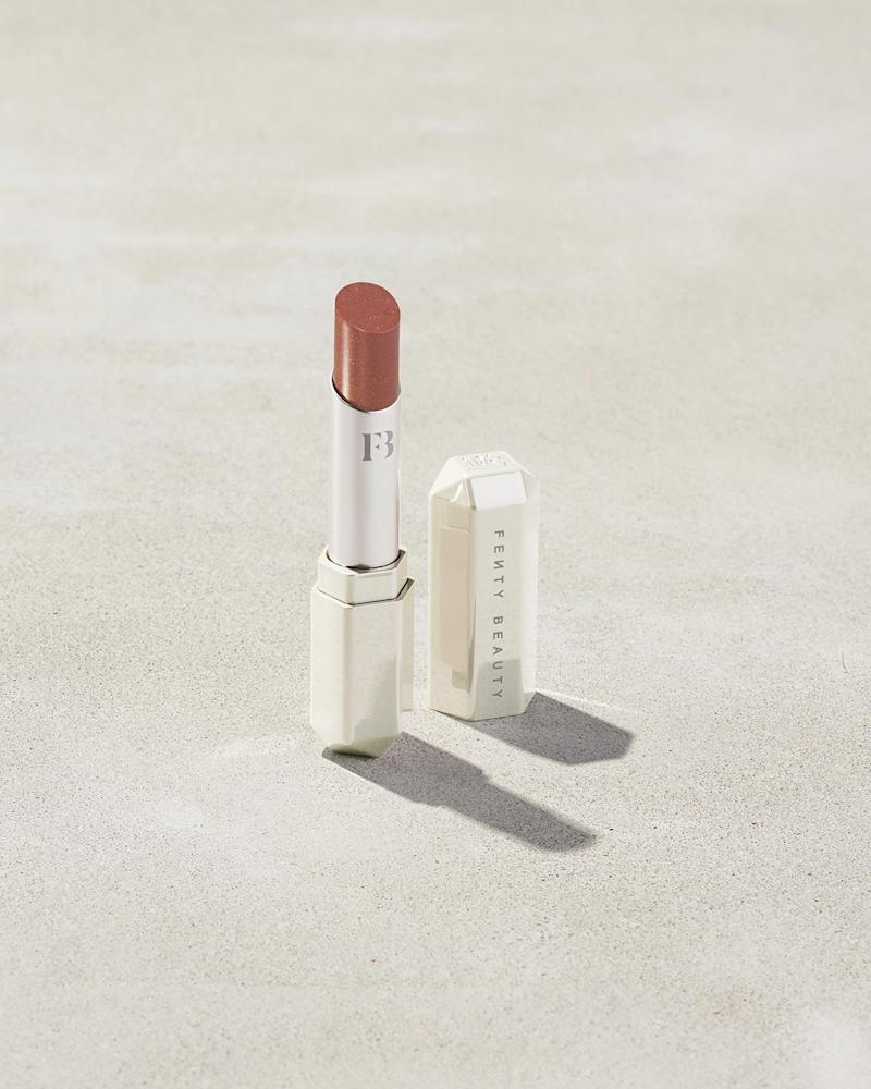 Slip Shine Sheer Shiny Lipstick in Bubblerum. Image via Fenty Beauty.