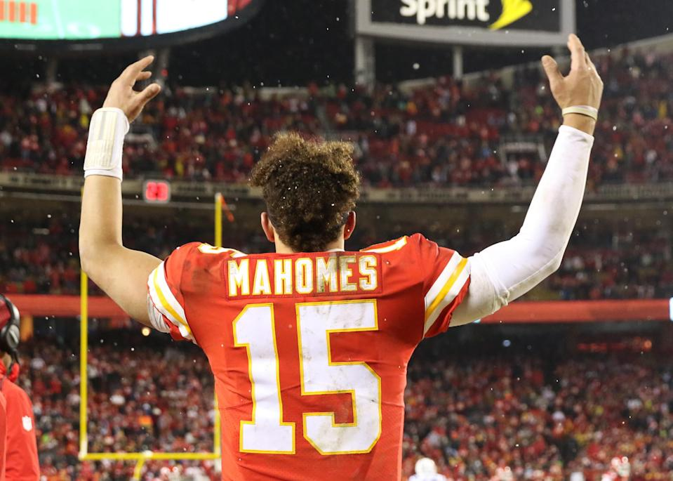 Patrick Mahomes helped the Chiefs take a huge step after decades of playoff frustration. Kansas City defeated Indianapolis 31-13 in the AFC's divisional round. The Chiefs will host the AFC championship game next week against either the New England Patriots or Los Angeles Chargers. (Getty Images)