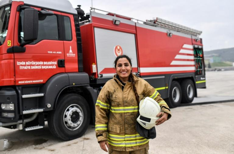 Devrim Ozdemir, one of the first women firefighters in Turkey, has inspired 50 other women to join the Izmir brigade