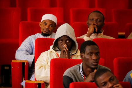 Students attend a class at Mohammed VI Institute for training Imams in Rabat, Morocco April 16, 2019. REUTERS/Youssef Boudlal