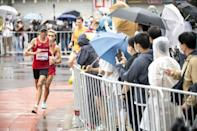 Marathon events were decided on the final day of the Tokyo Paralympics on Sunday (AFP/Charly TRIBALLEAU)
