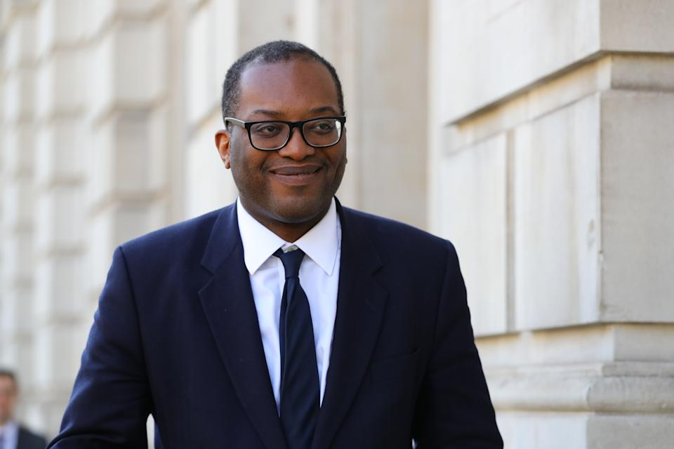 Minister of State at the Department of Business, Energy and Industrial Strategy Kwasi Kwarteng arrives at the Cabinet Office, London, ahead of a meeting of the Government's emergency committee Cobra to discuss coronavirus. (Photo by Aaron Chown/PA Images via Getty Images)