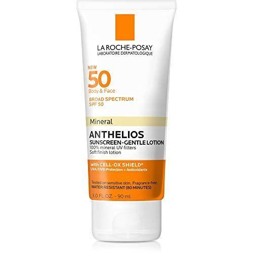 """<p><strong>La Roche-Posay</strong></p><p>amazon.com</p><p><strong>$22.21</strong></p><p><a href=""""https://www.amazon.com/dp/B07HF7VMXZ?tag=syn-yahoo-20&ascsubtag=%5Bartid%7C2164.g.32381661%5Bsrc%7Cyahoo-us"""" rel=""""nofollow noopener"""" target=""""_blank"""" data-ylk=""""slk:Shop Now"""" class=""""link rapid-noclick-resp"""">Shop Now</a></p><p>Dr. Dendy Engelman, a New York City-based dermatologist, prefers fragrance-free and noncomedogenic sunscreens, like this one from La Roche-Posay. It's great as a facial or body sunscreen, so you can apply it all over!</p>"""