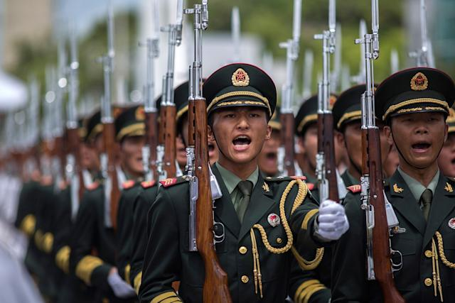 China's Peoples' Liberation Army soldiers