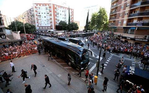 A general view of Arsenal players arriving at the stadium ahead of the UEFA Europa League, Semi Final - Credit: PA