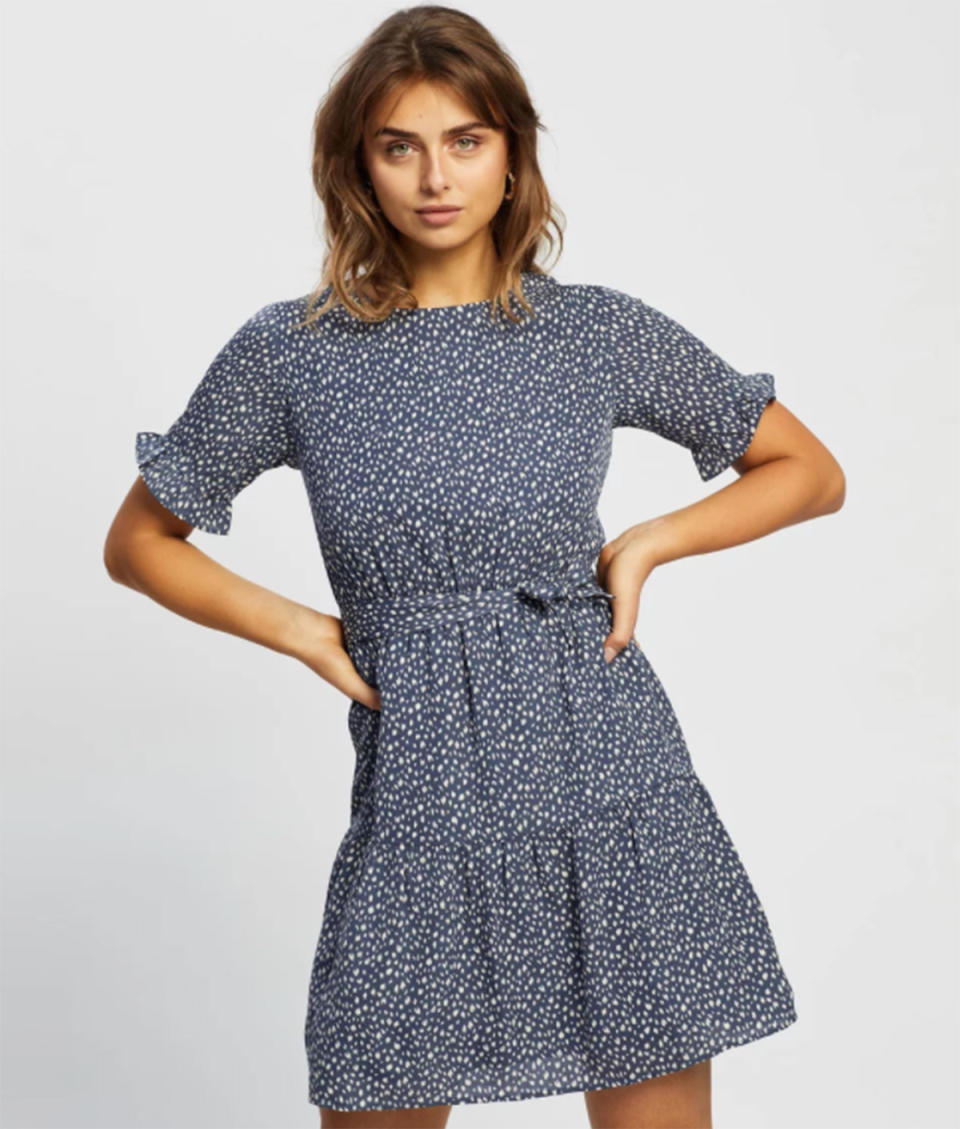 Atmos&Here Kaia Midi Dress, $79.99 from The Iconic. Photo: The Iconic.