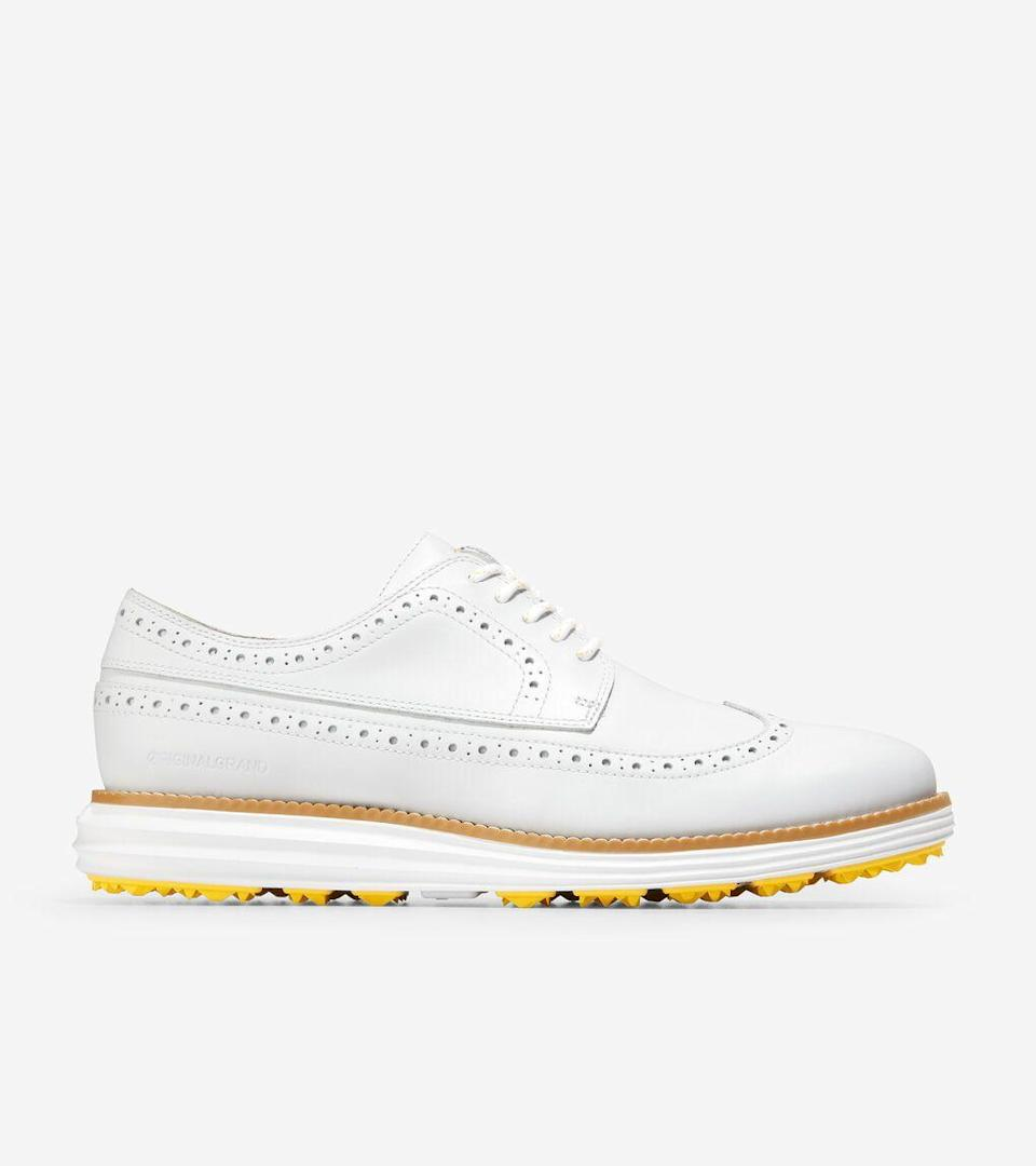 "<p><strong>ØriginalGrand Golf Shoe</strong></p><p>colehaan.com</p><p><strong>$170.00</strong></p><p><a href=""https://go.redirectingat.com?id=74968X1596630&url=https%3A%2F%2Fwww.colehaan.com%2Foriginalgrand-golf-shoe-white-white%2FC33683.html&sref=https%3A%2F%2Fwww.esquire.com%2Fstyle%2Fmens-fashion%2Fg36197949%2Fbest-golf-clothing-brands%2F"" rel=""nofollow noopener"" target=""_blank"" data-ylk=""slk:Shop Now"" class=""link rapid-noclick-resp"">Shop Now</a></p><p>A classic golf spike silhouette paired with the comfort offered by Cole Haan's GRANDFØAM midsole makes one hell of an enticing shoe. Better yet, you can rock this after the 18th hole and beyond and no one will be able to tell it's a golf shoe. </p>"