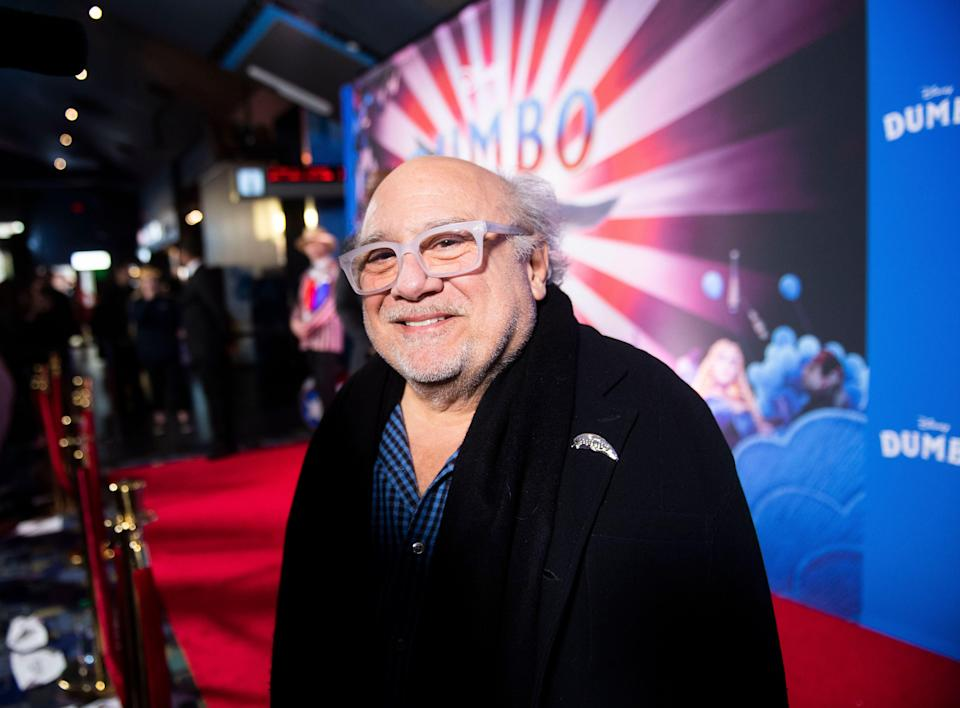 "Actor Danny DeVito poses at the Canadian premiere of ""Dumbo"" on Monday, March 18, 2019, in Toronto. (Photo by Arthur Mola/Invision/AP)"