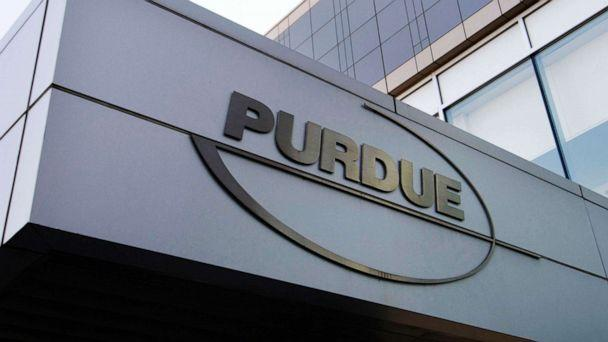 PHOTO: This May 8, 2007 file photo shows the Purdue Pharma logo at its offices in Stamford, Conn. (Douglas Healey/AP)