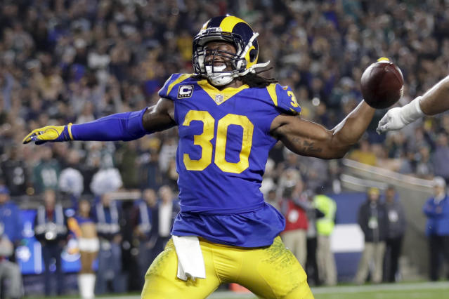 A nightmare became a reality for Todd Gurley's fantasy owners in Week 16. (AP Photo/Marcio Jose Sanchez)
