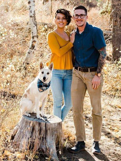 "<div class=""inline-image__caption""><p>Jason Lindow, right, with his partner Megan Denney and their dog Ellie.</p></div> <div class=""inline-image__credit"">Courtesy of Jason Lindow</div>"