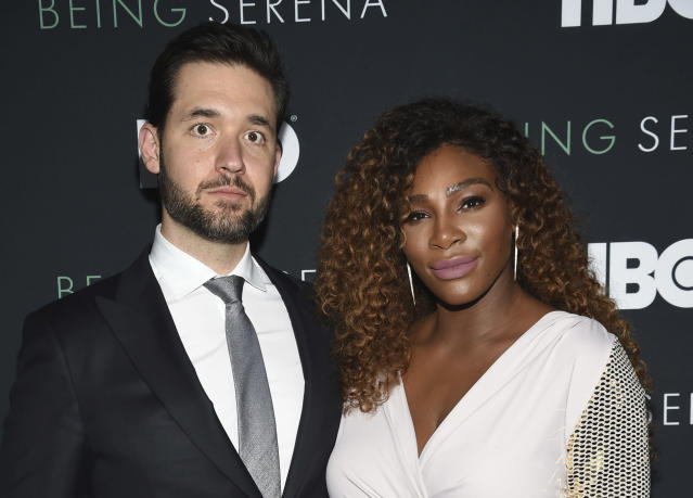 "<a class=""link rapid-noclick-resp"" href=""/olympics/rio-2016/a/1132744/"" data-ylk=""slk:Serena Williams"">Serena Williams</a>' husband, Alexis Ohanian, was not happy with a study in the New York Times. (AP Photo)"
