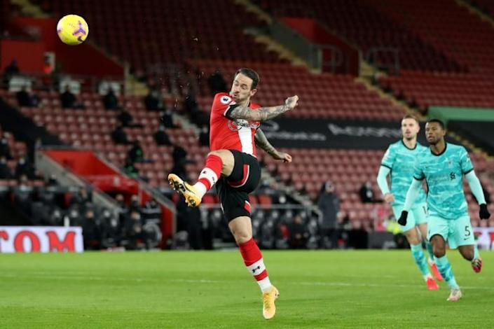Liverpool lobbed: Danny Ings opened the scoring agianst his former club