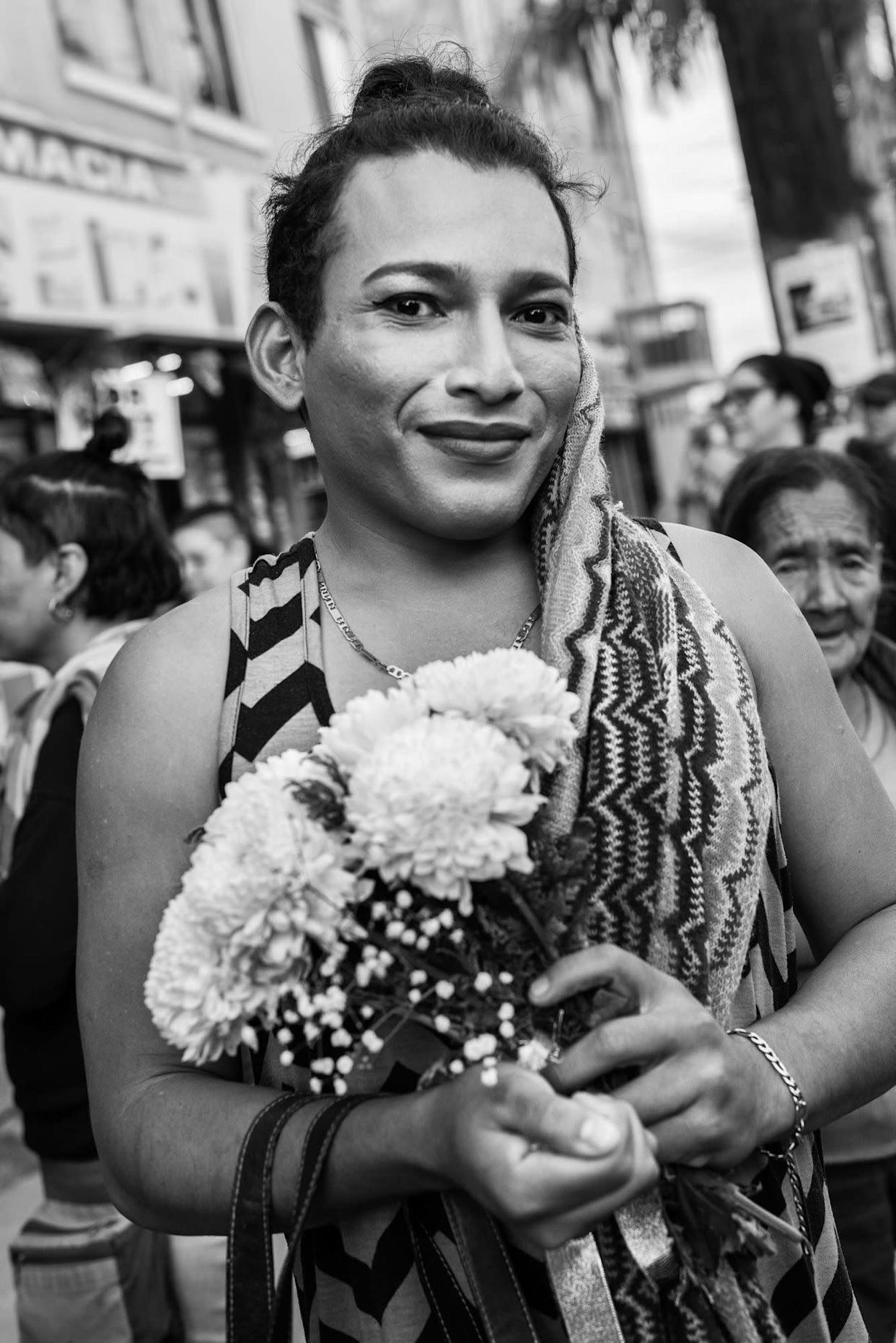 Mar is a member of the migrant caravan from Honduras and participated in an LGBTQ wedding in Tijuana, Mexico. Same-sex marriage is illegal in Honduras.
