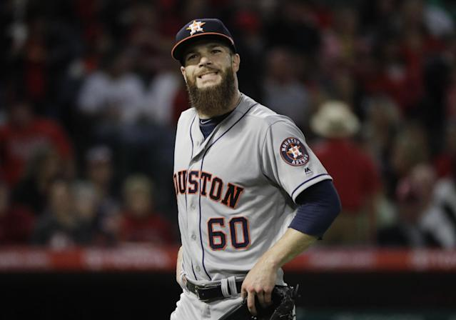 "Dallas Keuchel wants his team to be ""great"" or ""legendary"" not just good. (AP)"