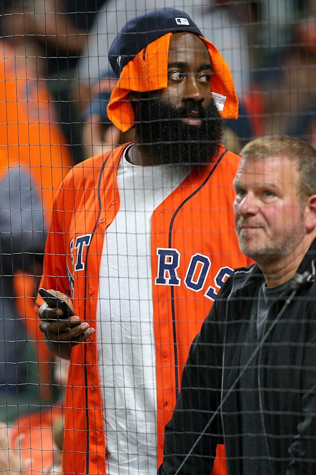<p>WHAT: A Houston Astros jersey</p> <p>WHERE: At Game 6 of the ALCS in Houston</p> <p>WHEN: October 19, 2019</p> <p>WHY: How to support your squad in style.</p>
