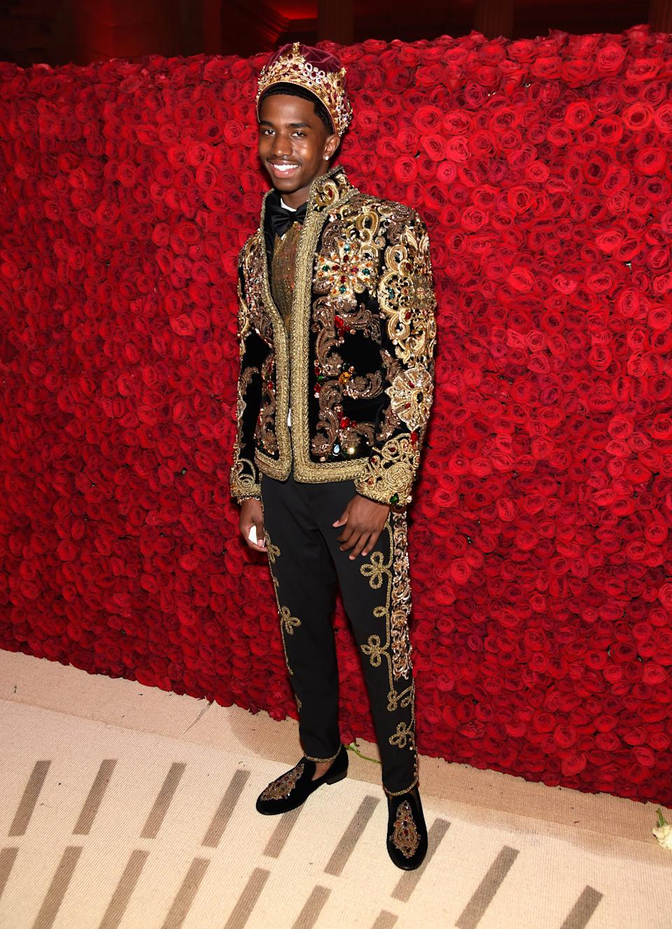 """<h1 class=""""title"""">Christian Combs in Dolce & Gabbana</h1><cite class=""""credit"""">Photo: Getty Images</cite>"""
