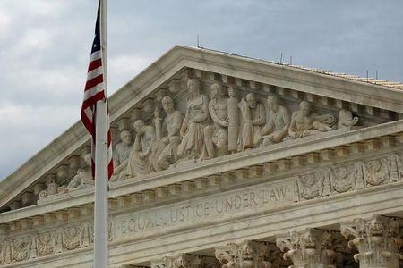 A view of the U.S. Supreme Court building is seen in Washington