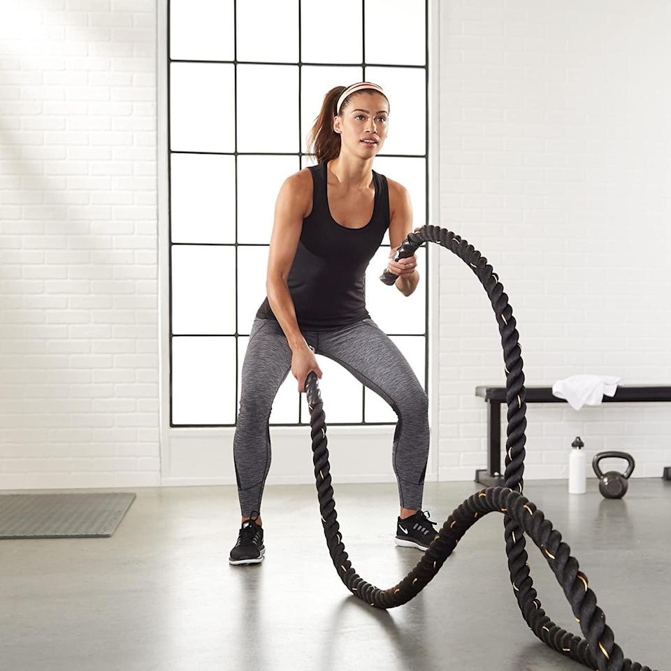 <p>Raise your heart rate with these tough <span>Amazon Basics Battle Exercise Training Rope</span> ($37, originally $39). Your arms will feel the burn with these ropes. It comes in a variety of sizes and weights, as well.</p>