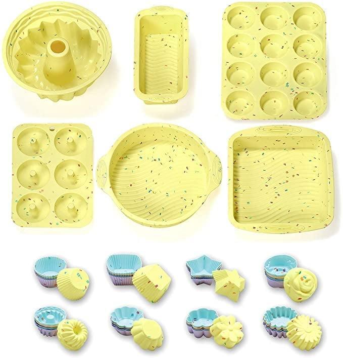 <p>The <span>46 Piece Silicone Bakeware Set</span> ($32) is the ultimate set for bakers. </p>