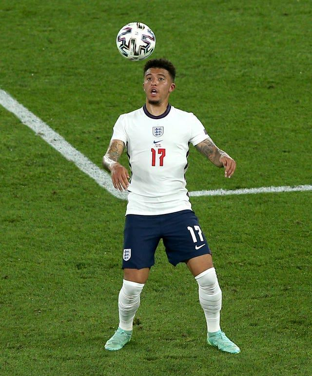 Jadon Sancho was handed his first start of the competition in the 4-0 win over Ukraine