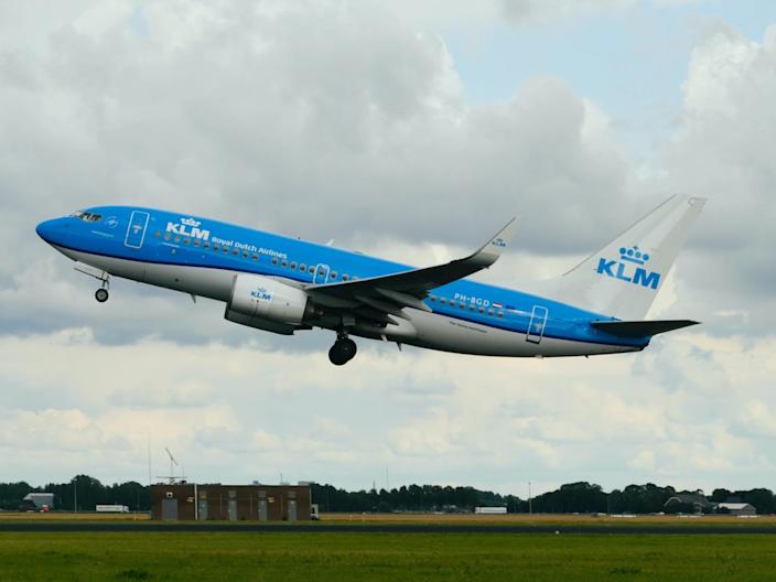 A KLM Royal Dutch Airlines Boeing 737-700.