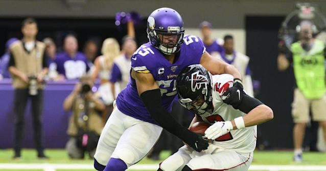 Vikings' Thursday injury report: Anthony Barr sits out