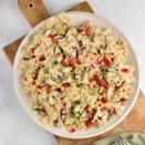 """<p>This classic tuna <a href=""""https://www.delish.com/uk/cooking/recipes/a29260396/chicken-caesar-pasta-salad-recipe/"""" rel=""""nofollow noopener"""" target=""""_blank"""" data-ylk=""""slk:pasta salad"""" class=""""link rapid-noclick-resp"""">pasta salad</a> is so tasty and keeps really well in the fridge, perfect for <a href=""""https://www.delish.com/uk/cooking/recipes/g31665635/batch-cooking-recipes/"""" rel=""""nofollow noopener"""" target=""""_blank"""" data-ylk=""""slk:batch cooked"""" class=""""link rapid-noclick-resp"""">batch cooked</a> lunches.</p><p>Get the <a href=""""https://www.delish.com/uk/cooking/recipes/a35901399/tuna-pasta-salad/"""" rel=""""nofollow noopener"""" target=""""_blank"""" data-ylk=""""slk:Tuna Pasta Salad"""" class=""""link rapid-noclick-resp"""">Tuna Pasta Salad</a> recipe.</p>"""