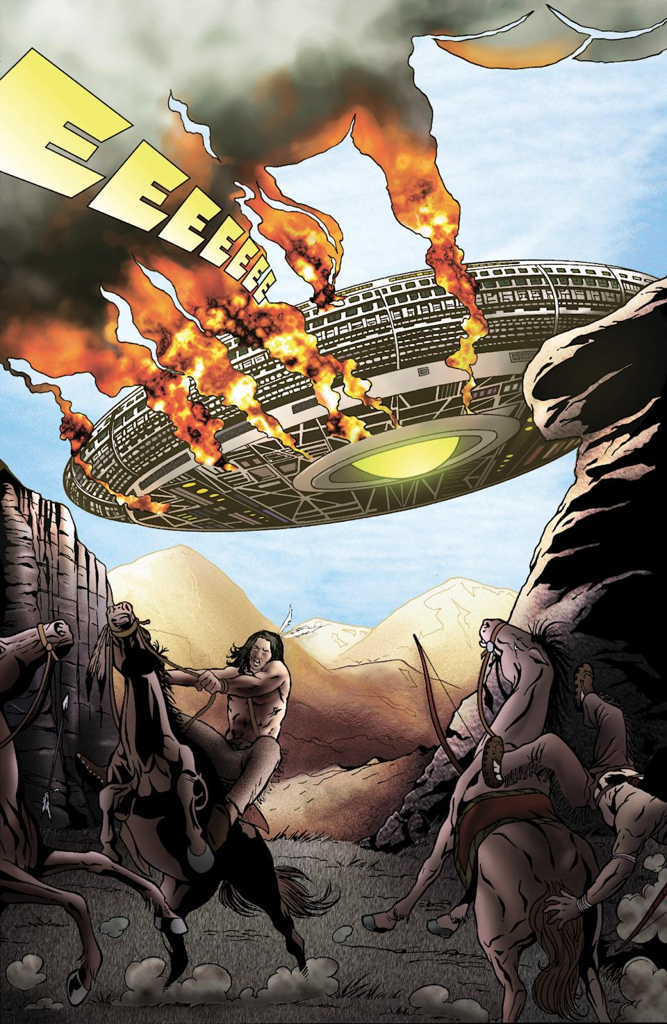 A panel from the comic book version of Cowboys & Aliens (Photo: Scott Mitchell Rosenberg)