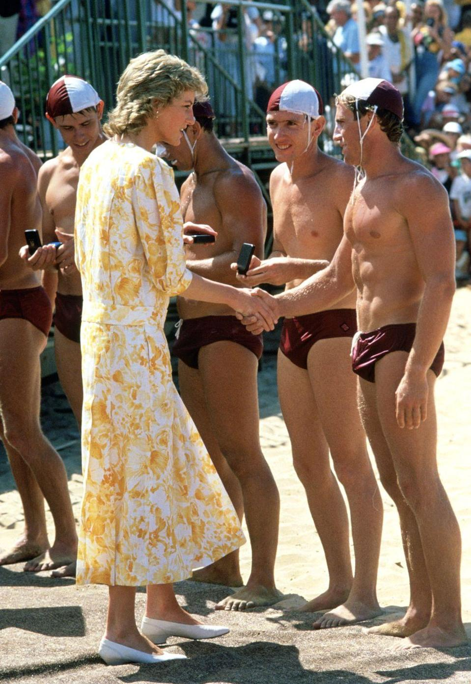 <p>Kicking your shoes off at the beach seems like a natural instinct, but if you're a royal, it would be a breach of protocol. There have been countless royal engagements where royals are forced to slug through the sand wearing flats, loafers, even heels. </p>