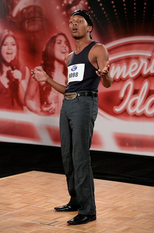 San Diego Audition: Christopher Baker, 22, San Diego, performs in front of the judges on the 7th season of American Idol.