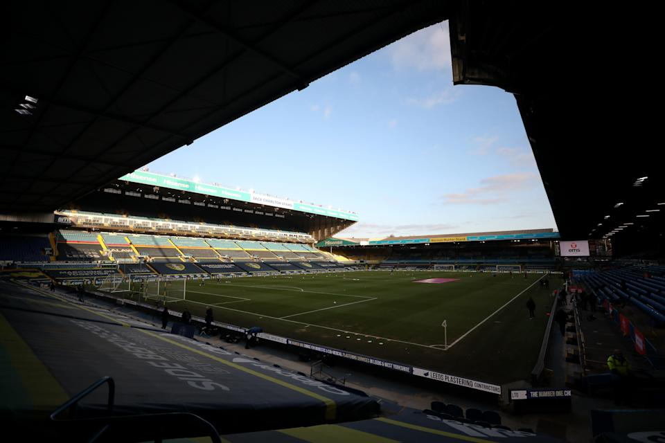 General view inside the stadium prior to the Premier League match between Leeds United and Liverpool (Getty)