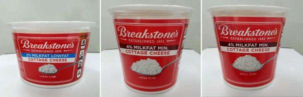 PHOTO: The FDA has announced that some varieties of Breakstone's Cottage Cheese have been recalled due to, 'potential presence of pieces of red plastic and metal that may have been introduced during production,' in a press release on Nov. 15, 2019. (FDA)