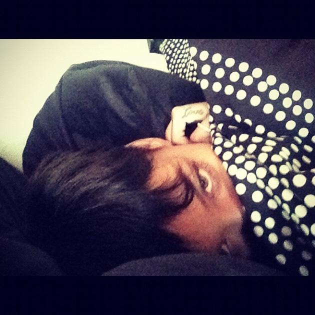 Celebrity Twitpics: After weeks of speculation, Rihanna pretty much confirmed her romance with Chris Brown with the pair tweeting simultaneous photos of themselves in bed on New Year's Day. Copyright [Rihanna]