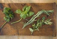 <p>If you can't polish off sprigs of basil or other fresh herbs, turn them into compound butter or pesto. If you freeze the bunches whole, they'll turn into brown mushy messes when thawed. </p>