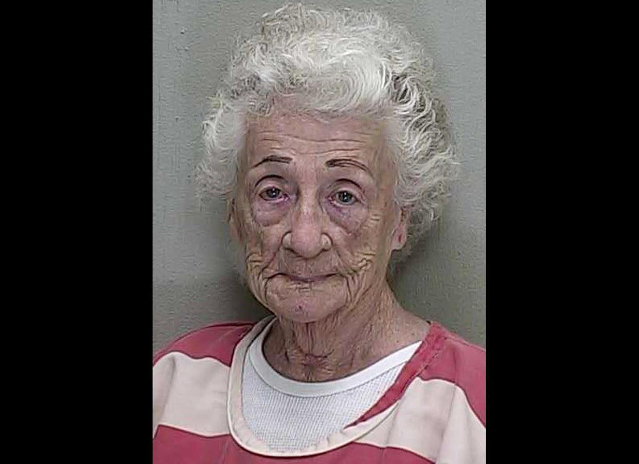 It was almost a kiss of death. Deputies in Florida say 92-year-old Helen Staudinger opened fire on her neighbor's house after the much younger resident refused to give her a kiss. Investigators at the Marion County Sheriff's Office claim Staudinger refused to leave 53-year-old Dwight Bettner unless her neighbor gave her a kiss. She allegedly returned with a gun.