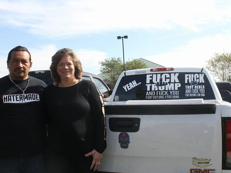 The driver of the stickered vehicle used to work for Sheriff Nehls in the county jail: Karen Fonseca/Facebook