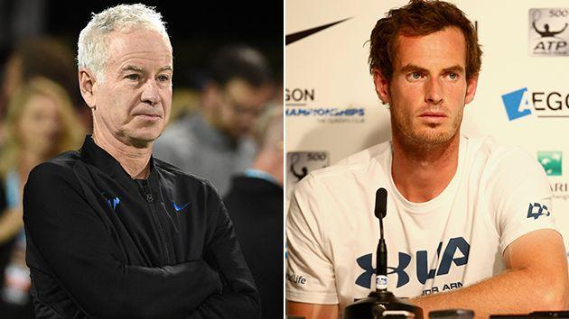McEnroe and Murray. Image: Getty