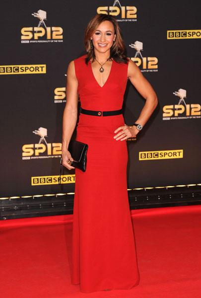 """<b>Jessica Ennis</b><br><br>The heptathlete looked dazzling in a red silk and wool blend Victoria Beckham gown, teamed with a black waisted belt and oversized black clutch.<br><br><b>[Related: <a target=""""_blank"""" href=""""http://uk.lifestyle.yahoo.com/bbc-sports-personality-of-the-year-awards-jessica-ennis-misses-out-on-top-gong-but-wows-in-victoria-beckham-093509687.html"""">Jessica Ennis is a style hit in Victoria Beckham</a>]</b><br><br>© Rex"""
