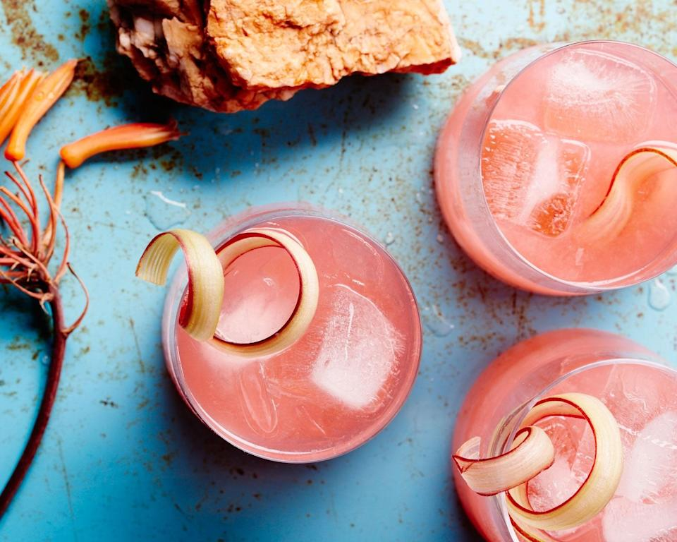 """If it grows together, it goes together: Sweet and sour from the rhubarb and herbaceous from the fennel, this drink is pure harmony. <a href=""""https://www.bonappetit.com/recipe/rhubarb-fennel-gin-cocktail?mbid=synd_yahoo_rss"""" rel=""""nofollow noopener"""" target=""""_blank"""" data-ylk=""""slk:See recipe."""" class=""""link rapid-noclick-resp"""">See recipe.</a>"""