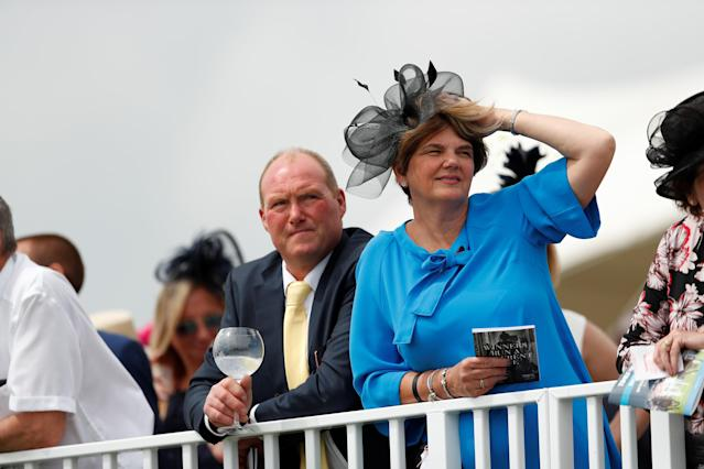 Horse Racing - Derby Festival - Epsom Downs Racecourse, Epsom, Britain - June 1, 2018 Racegoers look on during Ladies Day Action Images via Reuters/Andrew Boyers