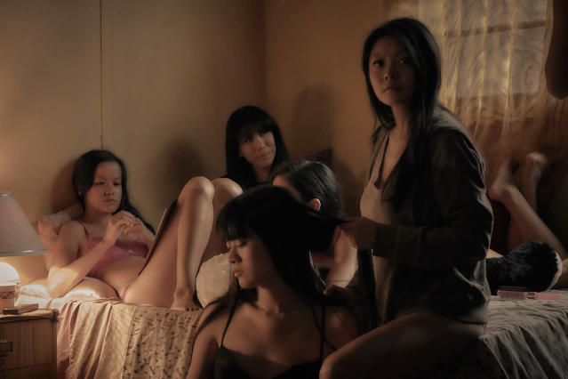 <p>Jenny Wu as Kiki, Merylnn Tong as Caramel, Sereena as Jade, Linda Ngo as Sinn and Michelle Ny as Mahlee in Sundance TV's 'Top of the Lake: China Girl'<br>(Photo: Sally Bongers/See-Saw Films) </p>