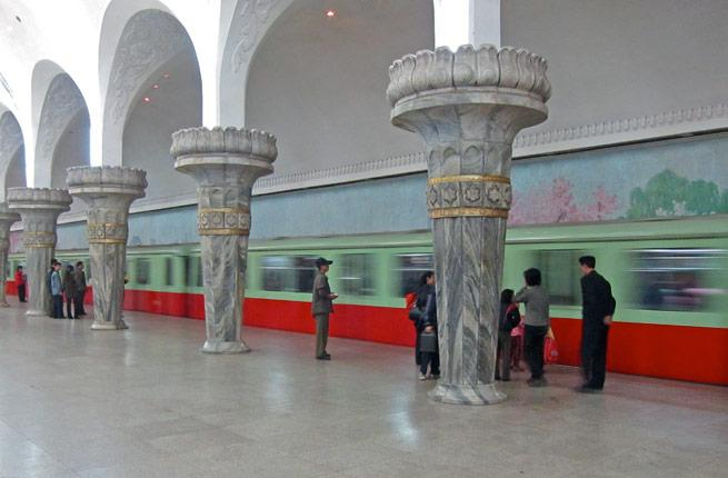 <p>The Pyongyang Metro in is chock-full of history: it was built to link secret underground military facilities (rumors of government-only lines still exist). Now, it's an important part of the transportation infrastructure with gorgeous architecture, domed archways, and patriotic wall murals.</p>