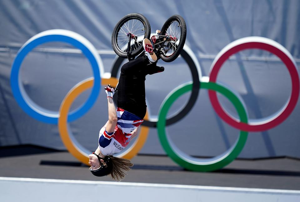 Charlotte Worthington won the gold medal in the women's BMX freestyle at Tokyo 2020 (Mike Egerton/PA) (PA Wire)