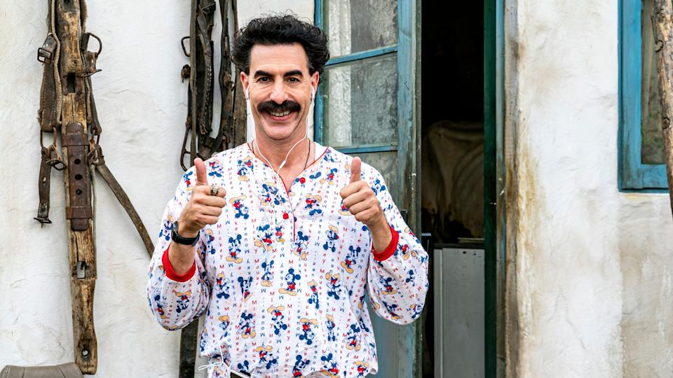 Baron Cohen in 'Borat Subsequent Moviefilm', out now on Amazon VideoAmazon Studios